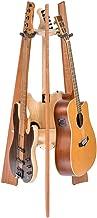 Ruach GR-1 Premium Wooden 3 Way Multi Guitar Stand Display Rack - Mahogany