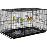 NNLX Aves de jaulas para pájaros Periquitos, rectángulo de cría apilable Periquito, Jaula de Aves, para Canarios Loros con Bandeja de Deslizamiento