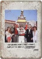 ナスカーウィンストンカップ競馬場ティンサイン壁の装飾金属ポスターレトロプラーク警告サインオフィスカフェクラブバーの工芸品