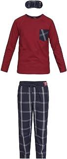 Baran Conjunto de Pijama para niño en algodón orgánico e Antifaz