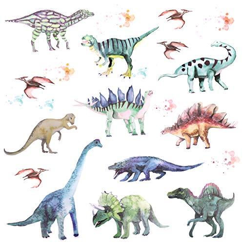 OOTSR Pegatinas de Pared de Dinosaurios, Adhesivos de Pared Calcomanías, Vinilos Decorativos Infantiles Adhesivos Pared Habitación Bebés Guardería Dormitorio