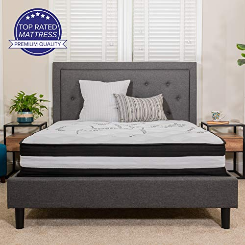 Flash Furniture Capri Comfortable Sleep 12 Inch Foam and Pocket Spring Mattress, King Mattress in a Box