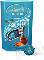 Lindt LINDOR Milk Salted Caramel Chocolate Truffles Box, 200 g