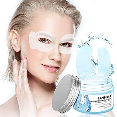 Under Eye Mask, Lanbena Under Eye Patches Hyaluronic Acid Eye Mask Moisturizing Circle Eye Mask Patches for Firming, Repair Nourish, Improve Bags Eye Lines Puffiness (50pcs) by LANBENA