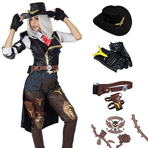COSTHEME OW Ashe - Disfraz de cosplay para mujer, 11 unidades