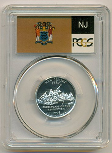 1999 S New Jersey State Silver Flag Label Proof Quarter PR69 DCAM PCGS