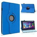 UC-Express Tablet Schutzhülle 10-10. Zoll Tasche 360° Drehfunktion Hülle Cover Hülle Stand, Farben:Blau, Tablet Modell für:i.onik TM3 Serie 1 10.1
