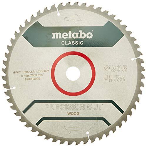Metabo Kreissägeblatt HW/CT 305 x 2,4 x 30 mm, 56 WZ 5 Grad neg, 628064000
