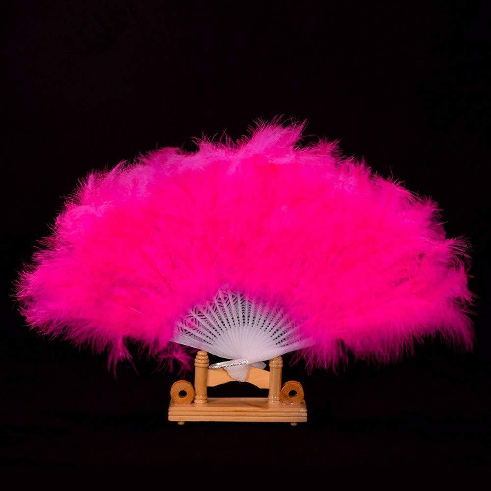 YWLINK Abanicos,28 Abanicos De Plumas Boda Showgirl Danza Elegante ...