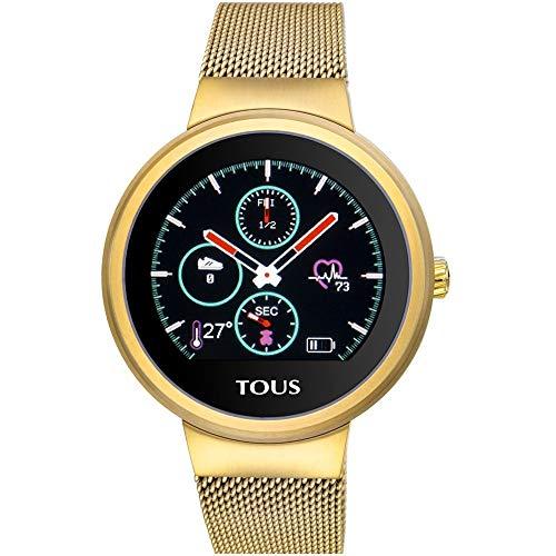Reloj Tous Round Touch 000351645 - Reloj de Actividad en Acero Inoxidable Chapado en Dorado.