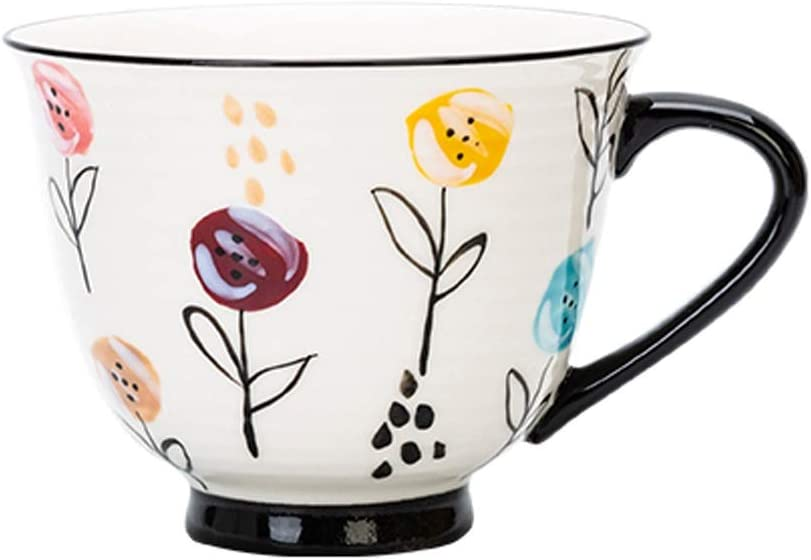 YITIANTIAN Baltimore Mall Coffee Popular brand in the world Mugs Lovely Flower Cups Vintage Cerami Painted