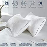 2Pack-Pillows-Queen Size-Bed Sleeping-Neck Pain Adjustable Hotel Pillow for Side Back and Stomach Sleeper