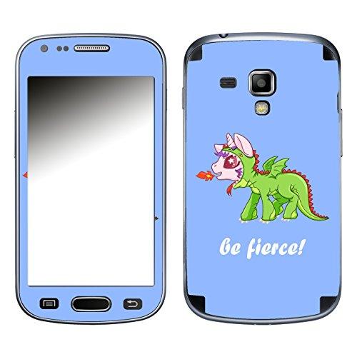 DISAGU SF 105745_ 828Design Skin per Samsung Galaxy Trend Plus–Motivo Unicorno Drago Blu