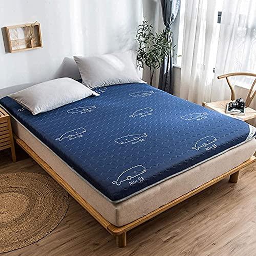 HMHMVM Colchoneta de Verano, colchón de látex Tatami, colchón de Tatami para Cama Individual Transpirable, colchón de Piso de 10 cm de Grosor, Ropa de Cama para Dormitorio de Estudiantes y niños, a