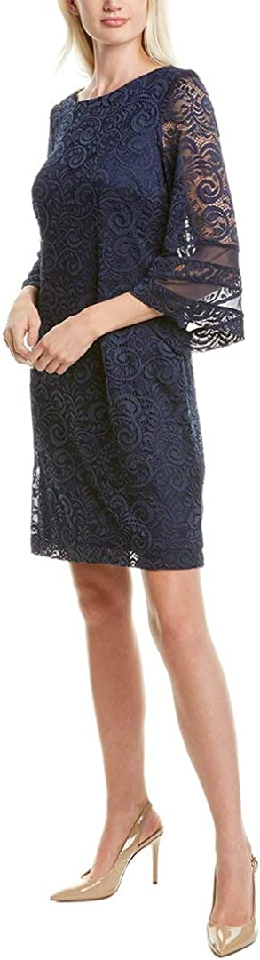 Sandra Darren Lace & Mesh Mini Dress