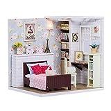 Seacanl Modelo en Miniatura de Bricolaje, Mejora la Calidad de la Capacidad práctica y el excelente diseño Luces LED Casa de muñecas de Madera, para niñas
