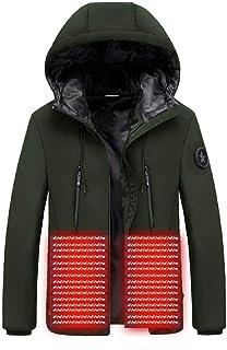 KAIXLIONLY Women Men Heated Parka, Warm Down Jacket USB Charging Heated Coat Ski Hooded Jacket Windbreaker