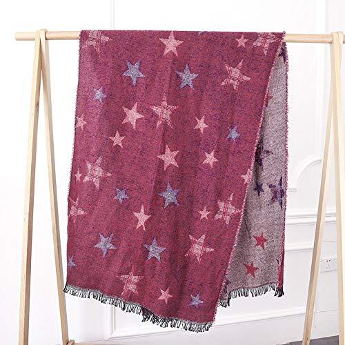 Bufandas cálidas invierno liso mujer Bufanda gruesa