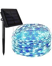 イルミネーションライト ソーラー充電式 10m 100led電球 8点灯モード ストリングライト IP65防水 装飾ライト クリスマス・ツリー パーティー 飾り 結婚式 電飾 室内室外両用
