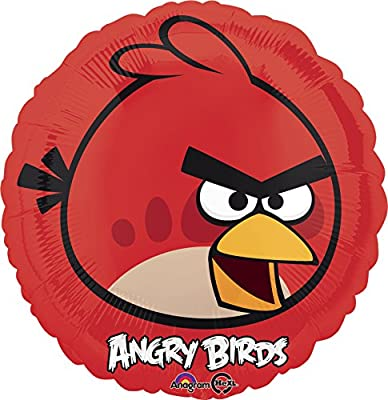 """Anagram International Angry Birds Foil Balloon Pack, 18"""", Red"""