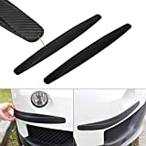 Xotic Tech 2X Carbon Fiber Pattern Front Rear Bumper Corner Protection Lip Guards Scratch