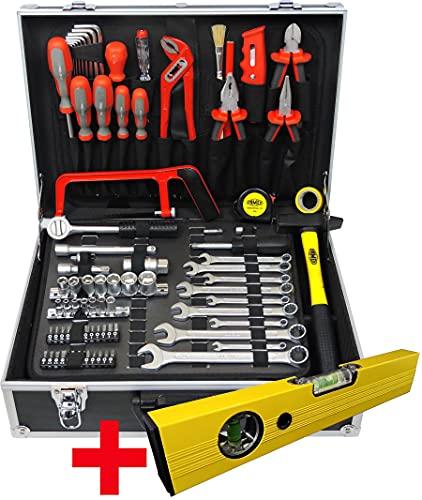 Famex Werkzeuge 759-63, 126 piezas. Maletín de aluminio estable con juego caja de herramientas completa