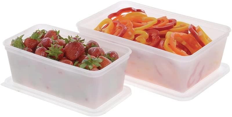 Plastic Food Storage Box 3 Qt Translucent 10 5 8 L X 6 W X 4 1 8 D