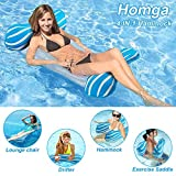Homga Water Hammock, Swimming Pool Floats Hammocks Pools Lounger Float Hammock Inflatable Rafts Floating Chair Pool Float for Adults and Kids