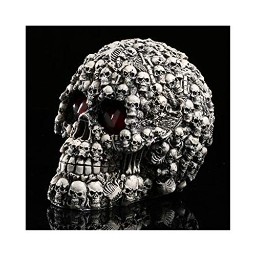 pb+ Menschlicher Schädel, lebensgroß - Totenkopf Deko Menschliches SchäDel-SammlerstüCk,Anatomisch Replikat LebensgrößE, Menschliches SchäDel-Anatomiemodell