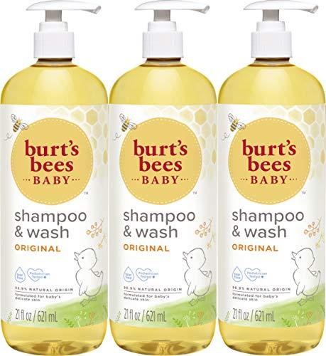 Burt's Bees Baby Shampoo & Wash, Original, 21 Ounces (Pack of 3)