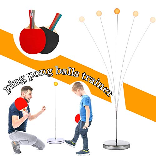 Buy Bargain DOBESTS Table Tennis Trainer Ping Pong Balls Paddles Set Training Elastic Soft Shaft Equ...