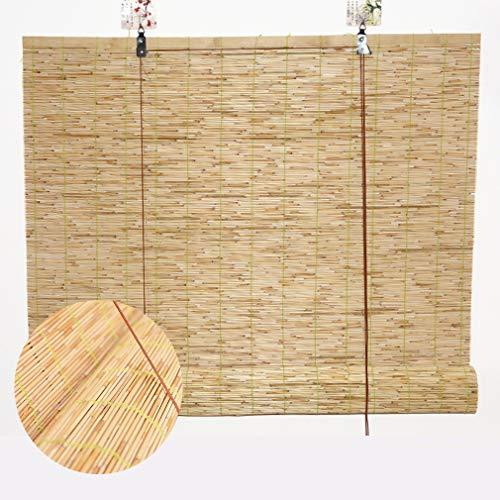 Stores en Bambou de Roseau,Rideaux de Roseau Naturels,Stores Enrouleurs Romains à levage Rétro,Pare-soleil de Rideau de Fenêtre Intérieur Extérieur Jardin Fenêtre,Personnalisée(60x80cm 24x32in)
