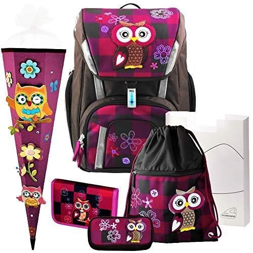 Olivia The OWL Toolbag SMART Schulranzen-Set 6-TLG. Eule Schneiders mit Federmappe und 3D-Schnellbastel-SCHULTÜTE - 78320-051
