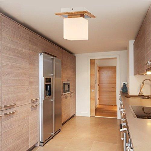 Ywyun lámpara de techo del LED moderno y minimalista, de estilo japonés techo de madera, pasillo recibidor corredor decorativa lámparas...