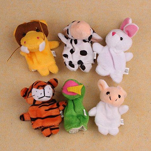 12 unids pequeños animales marionetas de dedo juguetes de peluche zodiaco chino suave animal marioneta dedo juguetes juguetes de peluche