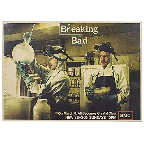 ALTcompluser Retro Motiv Film Poster Promi Wanddekoration Vintage Wandbild Kleinformat Plakat für Wandgestaltung(Breaking Bad)