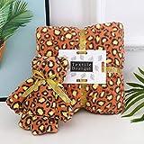 Multicolores Juegos de Toallas,Regalo de toalla de baño de toalla de lana de coral, toalla de cara con estampado de leopardo, juego de 2 piezas, marrón 4,Toalla de baño extra grande extragrande