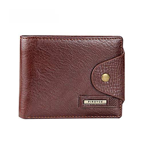 Qinxiaoyou Nieuwe Korte Heren Portemonnee Echte Lederen kwaliteit portemonnee voor malecoin Gratis Verzending Verticale Koffie