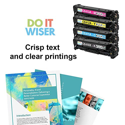 Do it Wiser Remanufactured Toner Cartridge Replacement for HP 305A 305X CE410X CE411A CE412A CE413A HP Laserjet Pro 400 Color MFP M451nw,M451dn, M451dw, MFP M475dn, Pro 300 Color MFP M375nw - 4 Pack Photo #9