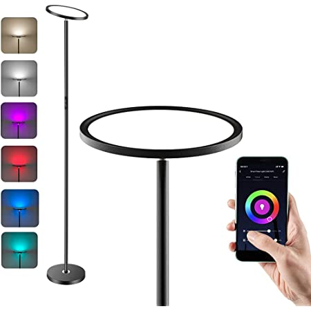 Anten RGB Lampadaire led 25W Lampadaire Salon avec Luminosité Réglable Lampe sur Pied led Compatible avec Alexa et Google Assistant Lampe sur Pied Chambre Lumière à Choix 3000K-6000K