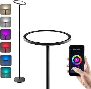 Anten RGB Lampadaire led 25W Lampadaire Salon avec Luminosité Réglable Lampe sur Pied led Compatible avec Alexa et Google ...