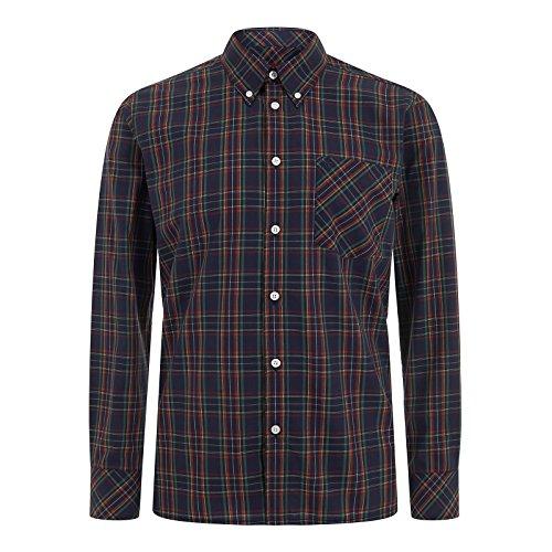 Merc of London NEDDY, Shirt Chemise habillée, Bleu (Navy), X-Large (Taille fabricant: XL) Homme