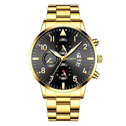 Moda Relojes Hombre Elegante Accesorio 2020 Mejor Regalo,Reloj De Pulsera De Cuarzo Deportivo con Fecha AnalóGica De Acero Inoxidable para Hombres De Negocios Cuena
