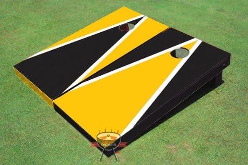 Nashville-Davidson Mall Elegant Yellow and Black Alternating Triangle Hole Corn Boards