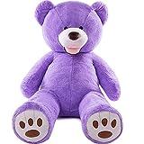 AMIRA TOYS ぬいぐるみ 特大 くま テディベア 可愛い熊 動物 大きい くまぬいぐるみ クマ 抱き枕 お祝い ふわふわぬいぐるみ 熊縫い包み クマ 抱き枕 お祝い ふわふわ お人形 女の子 男の子 子供 女性 抱き枕 プレゼント インテリア ビッグサイズ 3色選択 (パープル, 160cm)