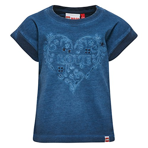 Lego Wear Lego Duplo Girl TIA 305-T-SHIRT T-Shirt, Blau (Blau (Dark Blue 578) 578), 24 Mois Bébé Fille