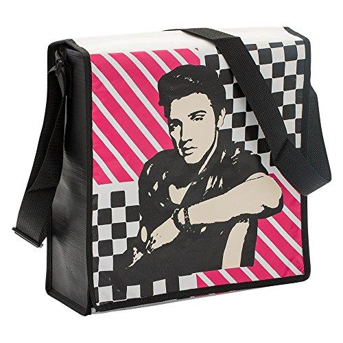 Elvis Presley Recycled Messenger Tote