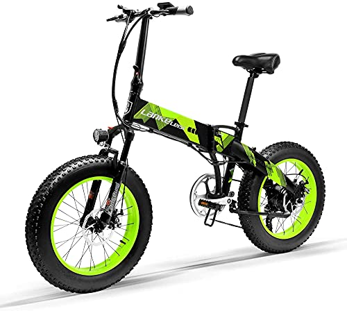 "LANKELEISI X2000 1000w Fat Tyre Folding Electric Bike 20 ""X4.0″ 48V 12.8AH"