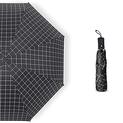 MUHWA Sonnenschirm, Sonnenschutz, UV-Schutz, automatischer Regenschirm für winddichte Reiseschirm, regenfest, faltbar (schwarz)