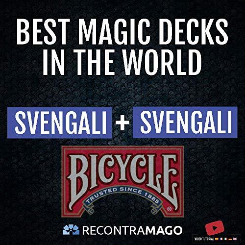 RecontraMago Magia Bicycle - Las Top Barajas Mágicas del Mundo Ahora en Cartas Bicycle - Trucos de Magia para niños y Adultos (SVENGALI + SVENGALI)
